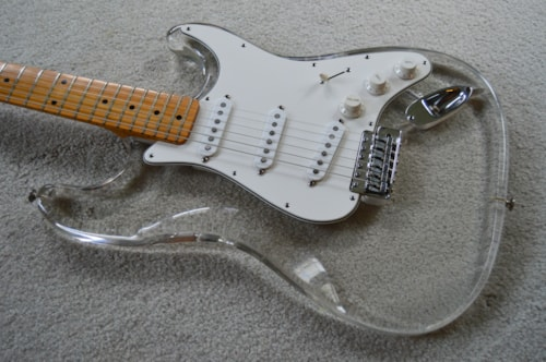 ~1978 ClearSound Lucite Strat copy clear