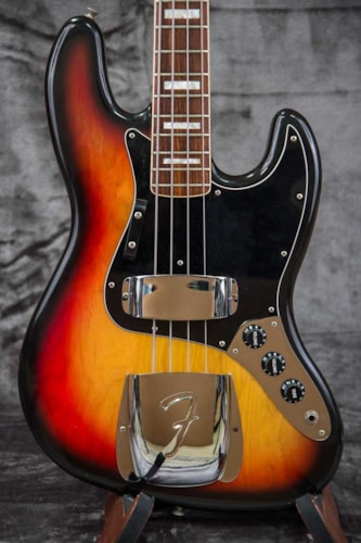 1978 Fender® Jazz Bass® Sunburst, Excellent, Original Hard, $2,999.00