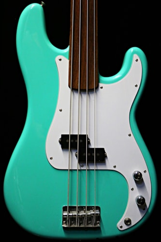 1978 Fender® Precision Fretless Seafoam Green, Mint, Hard, Call For Price!