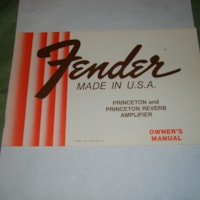 1978 Fender Princeton and Princeton Rev.Owners Manual