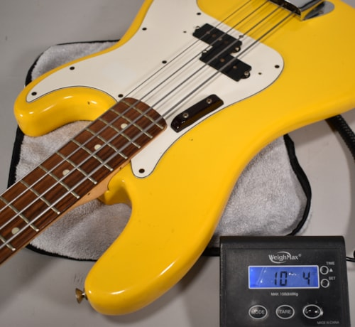 1981 Fender International Series Monoco Yellow Vintage P-Bass Guitar OHSC