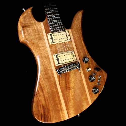 1979 BC Rich Used 1979 BC Rich Mockingbird Deluxe Electric Guitar Natural Koa