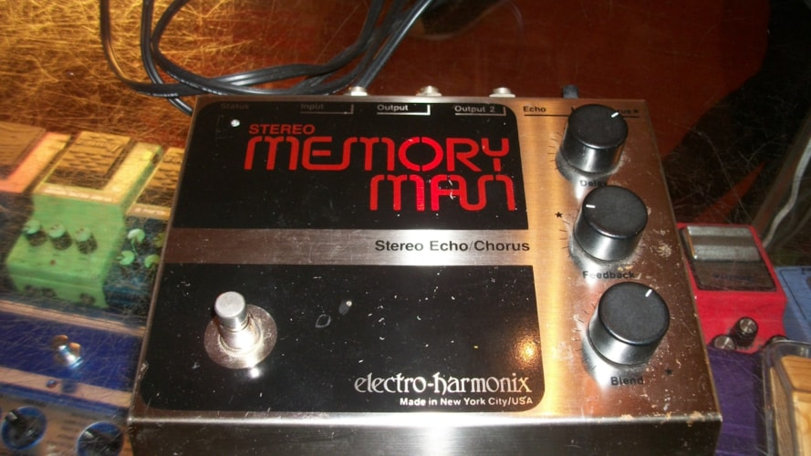 1979 ELECTRO HARMONIX Memory Man Chrome Black and Red, Excellent, , $395.00
