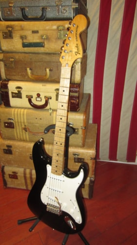 1979 Fender Stratocaster Black Original neck with USA re-issue pickups, parts and body