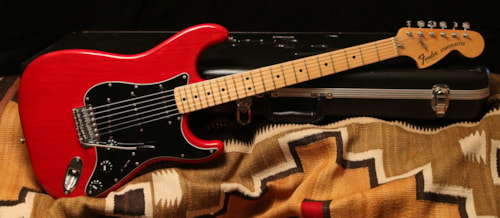 1979 fender stratocaster trans red guitars electric solid body rumble seat music. Black Bedroom Furniture Sets. Home Design Ideas