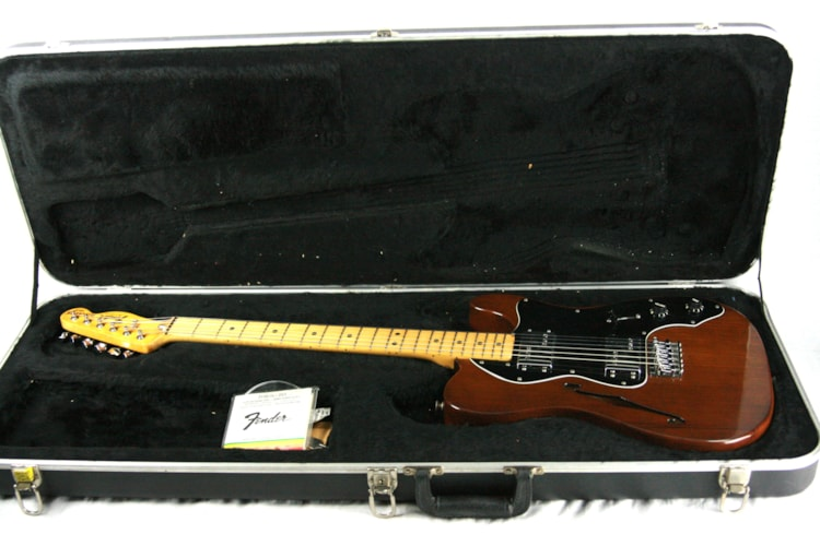 1979 Fender Telecaster Thinline Mocha Brown Finish w/ OHSC! 1970's Tele, Deluxe, Custom, Wide-Range Humbuckers! Excellent $2,995.00