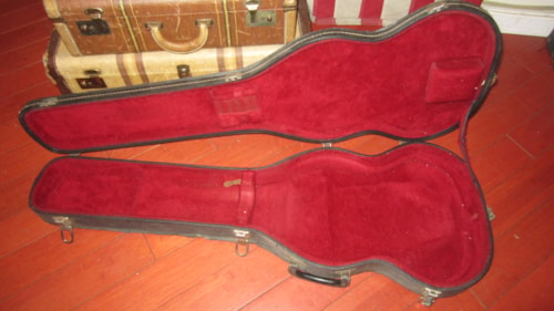 1979 Gibson SG Case Black w Red Interior, Excellent, Original Hard, $299.00