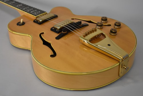 """1979 Greco SW-1200 Natural Finish MIJ 15"""" Electric Hollow Body Guitar w/HSC"""