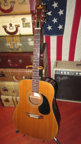 1979 MARTIN SIGMA DM-5 Dreadnought Acoustic Natural, Excellent, Soft, $695.00