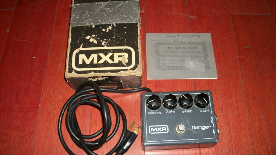 1979 MXR Flanger Grey, Excellent, Original Soft, $299.00