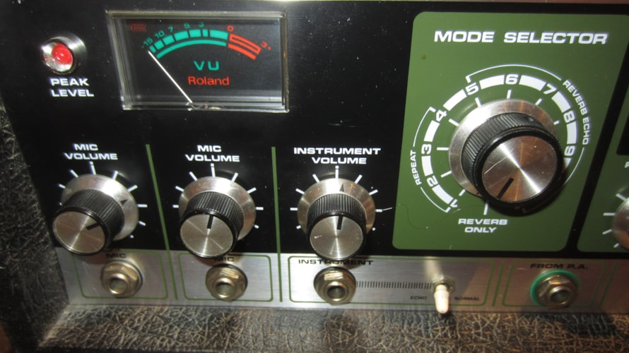 1979 Roland  RE-201 Space Echo Black and Green, Excellent, $1,495.00