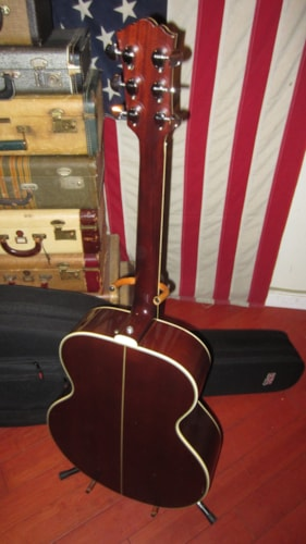 1979 Yamaha CJ-818 Jumbo Flattop Acoustic Sunburst, Excellent, Hard, $599.00