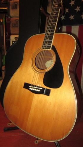 1979 Yamaha FG-375SII Dreadnought Acoustic Natural, Excellent, Hard, $695.00