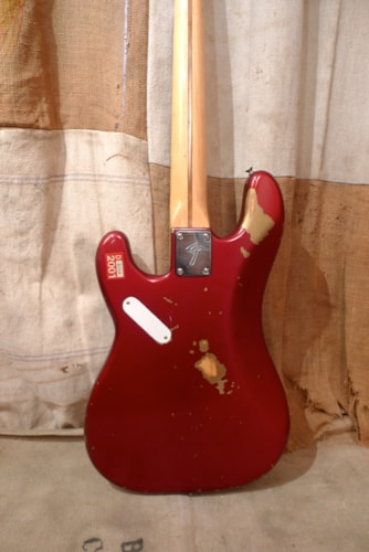 1980 Fender Precision Bass Candy Apple Red, Good, Hard