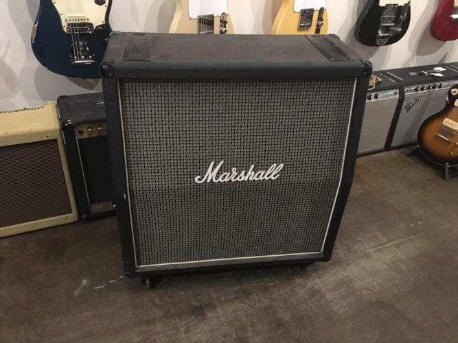1980 Marshall 4x12 Slant Cabinet Model 1982 GreyGrill, Excellent, $1,150.00