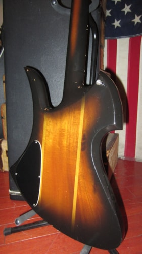 1981 BC Rich Mockingbird Bass Sunburst, Excellent, Original Hard, $2,999.00