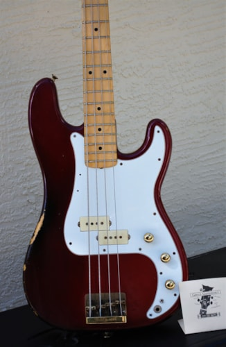 Fender precision bass special candy apple red