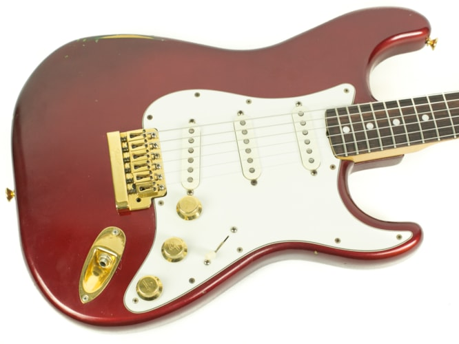 1981 Fender The Strat Candy Apple Red, Very Good, Original Hard, $1,299.00