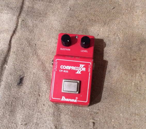 1981 Ibanez CP-835 Compressor II Pedal Red, Very Good, $165.00