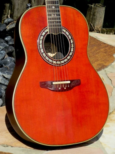 "1981 Ovation ""The Anniversary"" Collectors Edition Natural, Excellent, Original Hard"