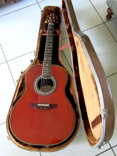 "1981 Ovation ""The Anniversary"" Collectors Edition Natural, Excellent, Original Hard, $995.00"