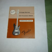 1982 Fender 57 RI Precision Bass owners manual