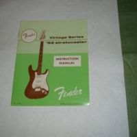 1982 Fender 62 Strat Owners Manual
