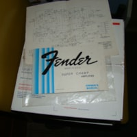 1982 Fender Super Champ Owners Manual & Open Warranty