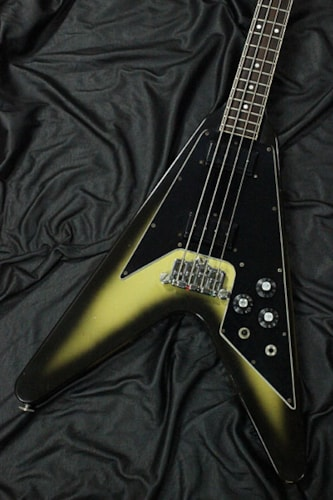 1982 Gibson Flying V Bass Silver Burst Finish, Excellent, Original Hard, Call For Price!