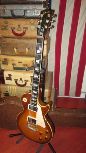 1982 Gibson Les Paul Heritage 80 Elite Iced Tea Burst Flame Top