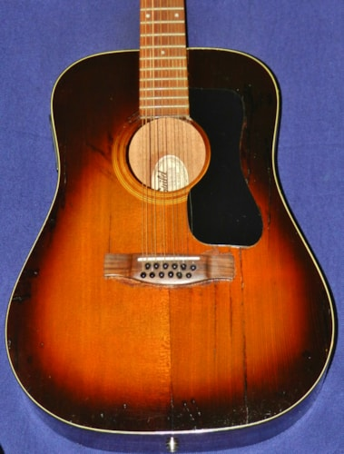 1982 Guild® D-212SB Dark Sunburst, Good, Hard, $695.00