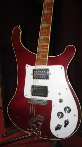 1982 Rickenbacker Model 481 Slant Fret Burgundy with Original Hard Case