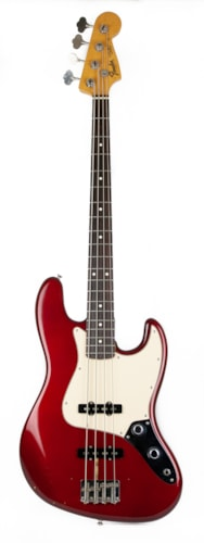 "1983 Fender ""Fullerton"" '62 Reissue Jazz Bass in Candy Apple Red with Stack Knob Controls"