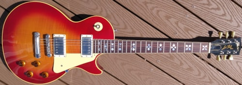 1983 Gibson Les Paul Reissue Flowers Vintage Cherry Sunburst