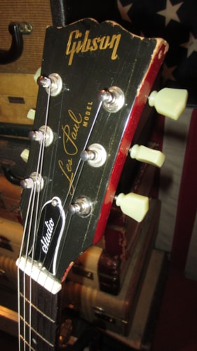 1984 Gibson Les Paul Studio w Tim Shaw Pickups Red, Very Good, Hard, $1,195.00