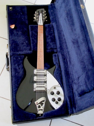 1985 Rickenbacker 325/12 12-String Reissue Jetglo, Near Mint, Original Hard