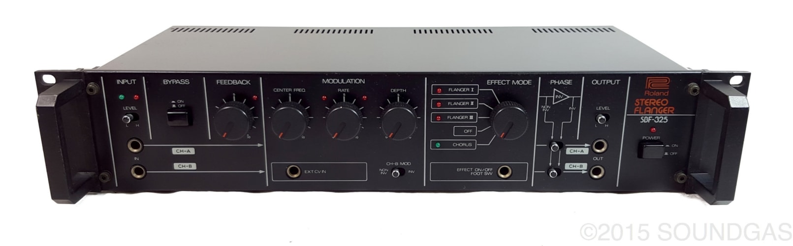 1985 Roland SBF-325 Stereo Flanger Very Good, $750.00