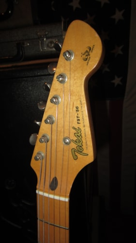 1985 Tokai TST-56 '56 Re-Issue Stratocaster Red, Excellent, Hard, $899.00