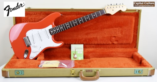 1986 Fender USA American Vintatage Reissue '62 Stratocaster Fiesta Red >  Guitars Electric Solid Body | Capital Guitars