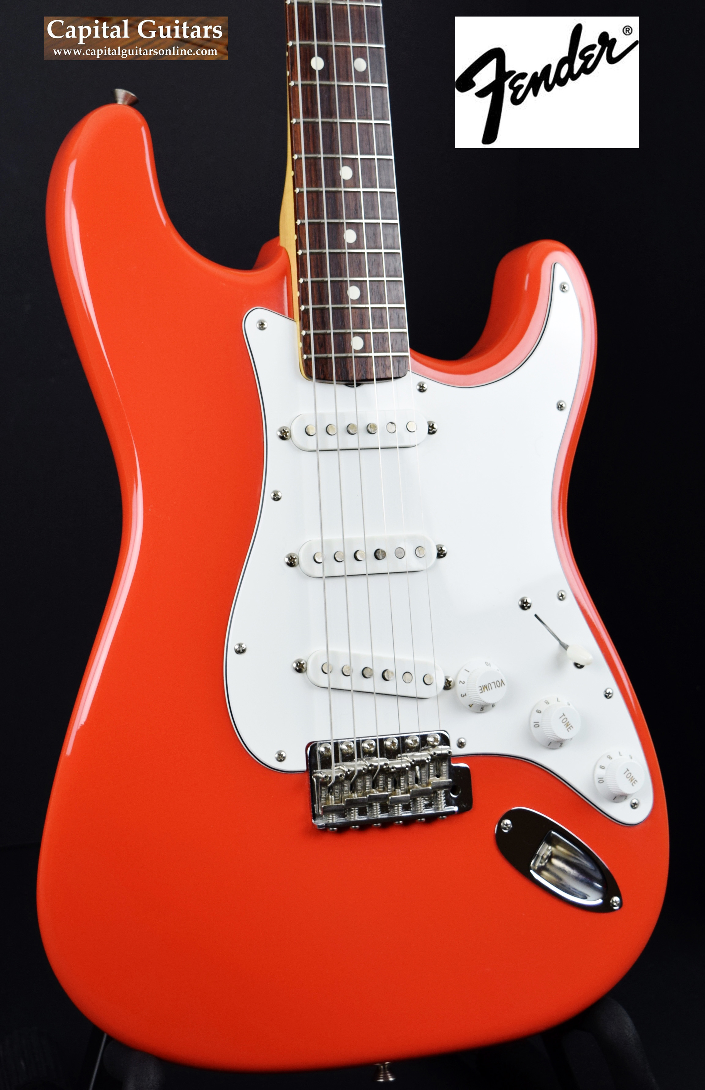 1986 Fender® USA American Vintatage Reissue '62 Stratocaster® Fiesta Red,  Excellent, Original Hard, $2,799 00