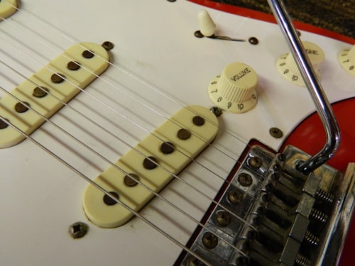 ~1986 Phantom Guitars EVH Strat Red/White Stripes