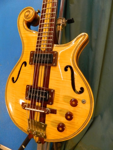 1987 Abe Rivera Custom Semi-Hollow Natural