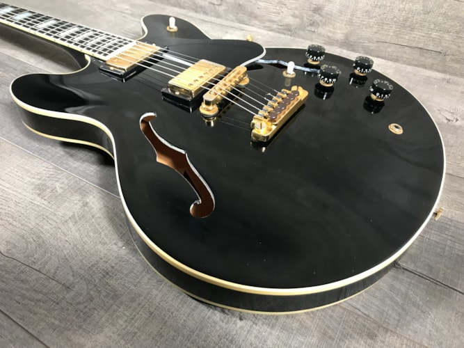 1987 Gibson ES-347 Black, Very Good, Original Hard