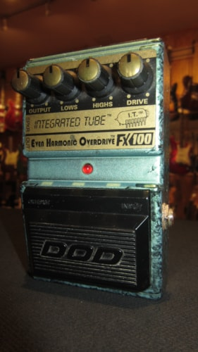 1988 DOD FX100 Integrated Tube Even Harmonic Overdrive Green, Very Good, $89.00
