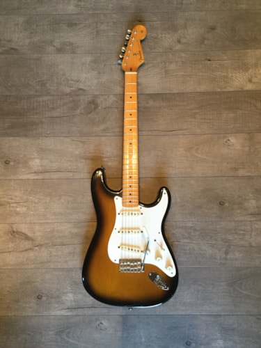 1988 Fender® Straocaster '57 Reissue 2-Tone Sunburst, Near Mint, $2,450.00