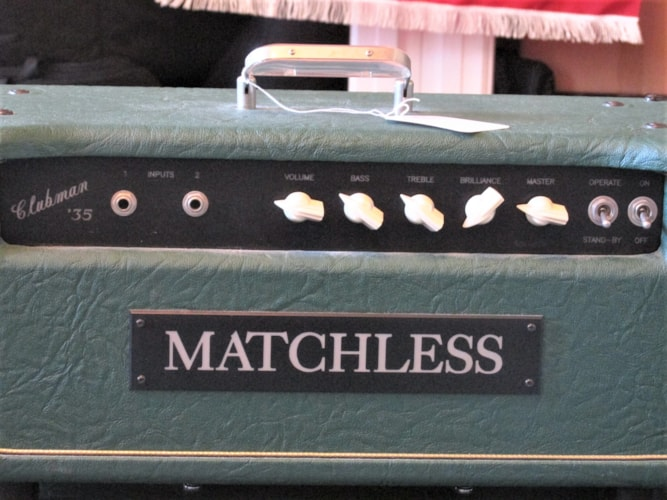 "1988 Matchless (Samson Era) Clucbman 35 with 1 x 12"" Cabinet (1994) Green, Mint, Call For Price!"