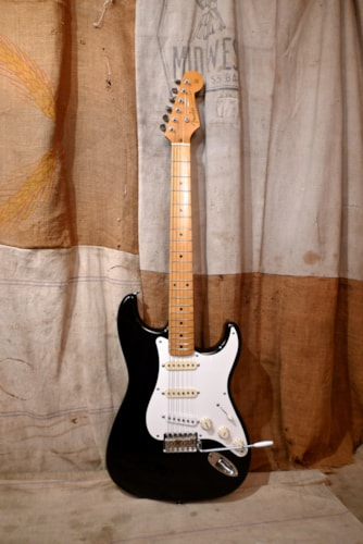 1989 Fender 57 Reissue Stratocaster Black, Very Good, GigBag, $875.00