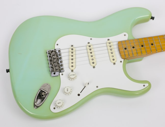 1989 Fender® '57 RI MIJ Stratocaster® Surf Green, Very Good, Original Hard, $999.00