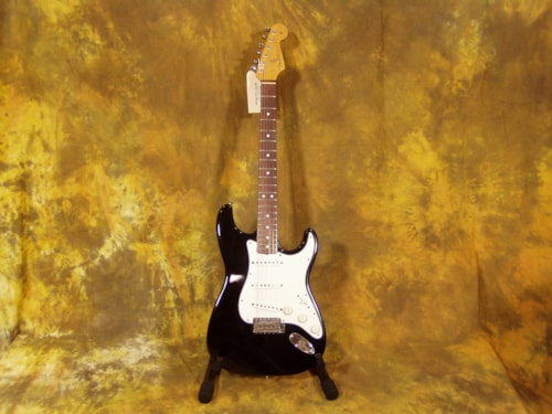 1989 Fender® 62 USA RI Stratocaster® (1962 Reissue) Custom Black, Near Mint, Hard