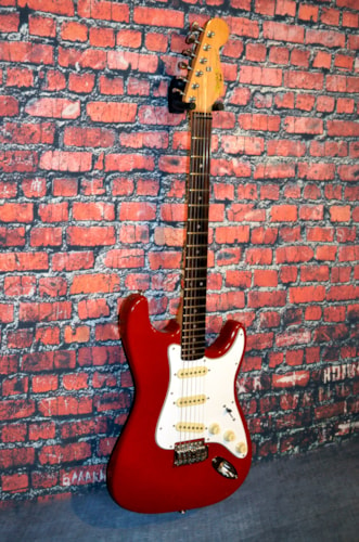 1989 Fender Squire II Stratocaster Dakota Red, Very Good, GigBag, $259.00